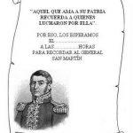 Imágenes del General José de San Martín para colorear dibujos