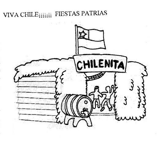 Imágenes De La Independencia De Chile Dibujos Para Colorear
