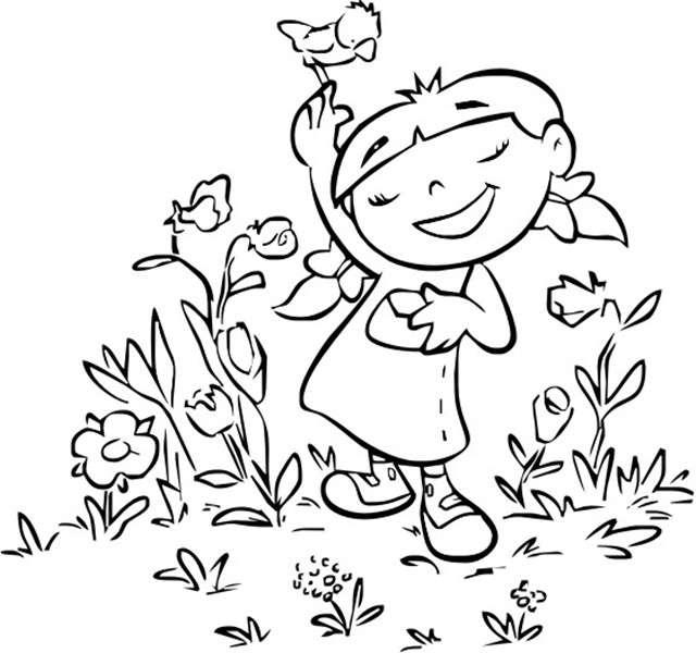Imágenes De La Primavera Dibujos Para Colorear