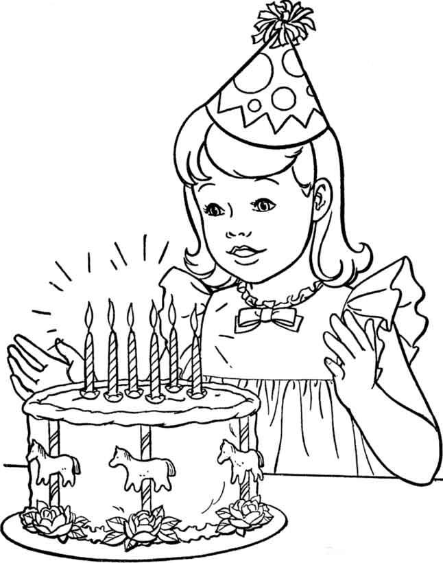 60 Imágenes de Feliz Cumpleaños para colorear | Colorear imágenes