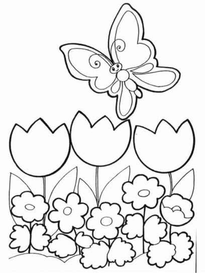 Imágenes de la primavera dibujos para colorear | Colorear imágenes