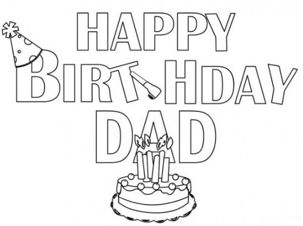 Dibujos de feliz cumpleanos papa