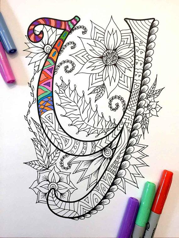 Imágenes del abecedario, dibujos de letras para colorear | Colorear ...
