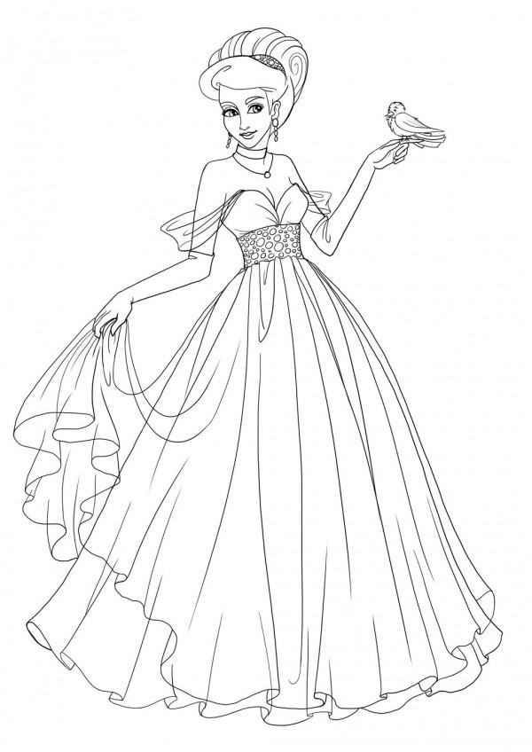 60 Imágenes De Princesas Dibujos Para Colorear Colorear Imágenes
