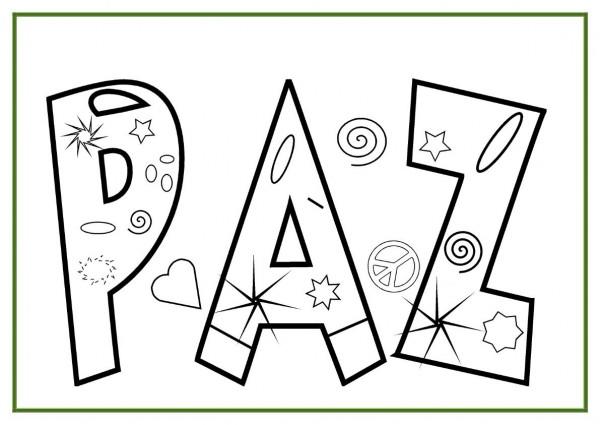 Imágenes Para Colorear Dibujos Del Día De La Paz