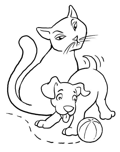 Dibujos De Perros Y Gatos Para Colorear E Imprimir Colorear Imágenes