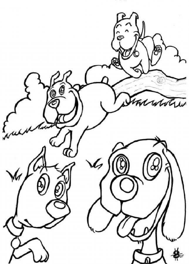 Dibujos de PERROS y GATOS para Colorear e Imprimir | Colorear imágenes