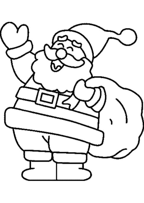 Dibujos navide os de papa noel para colorear e imprimir for Adornos navidenos para colorear y recortar