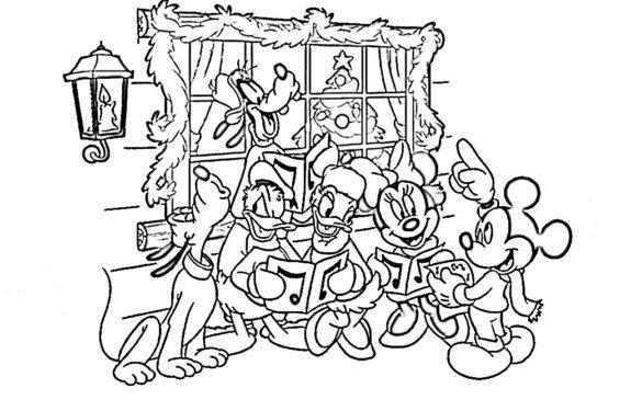 Imagenes Con Dibujos Navidenos De Disney Para Colorear Colorear
