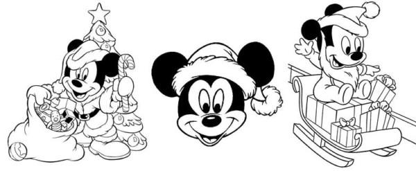 Dibujos En Color De Disney: Imágenes Con Dibujos Navideños De Disney Para Colorear