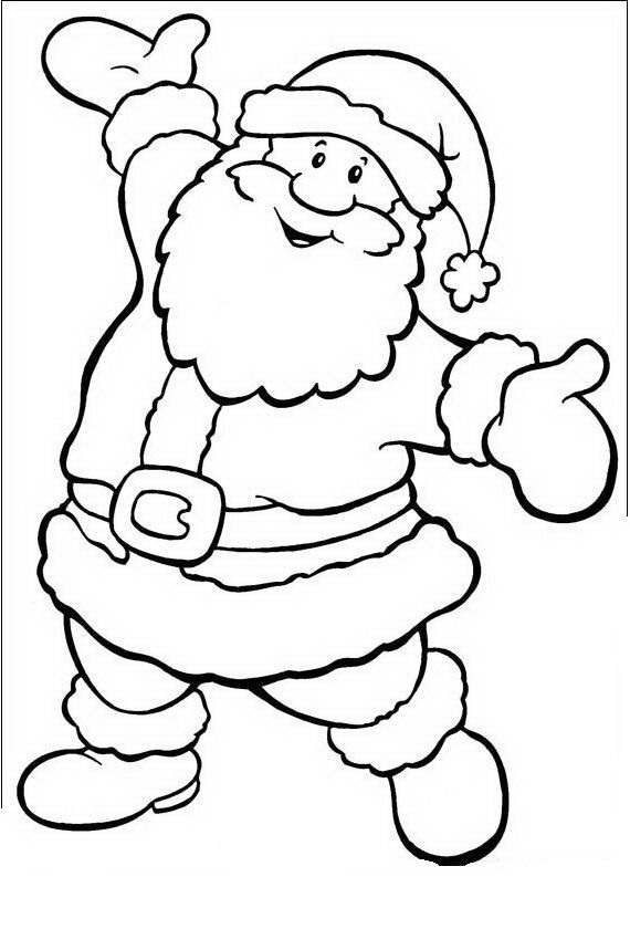 Dibujos Navideños de Papa Noel para colorear e imprimir | Colorear