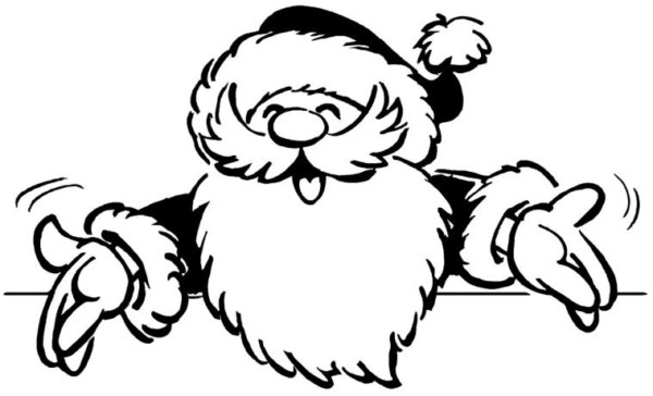 Dibujo De Cara De Niño Pequeño Para Colorear: Dibujos Navideños De Papa Noel Para Colorear E Imprimir