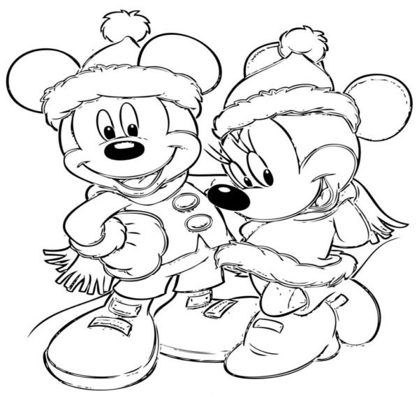 Imágenes Con Dibujos Navideños De Disney Para Colorear
