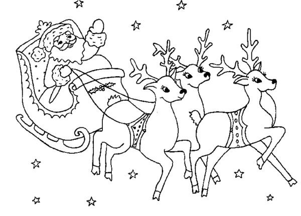 Dibujos navide os de papa noel para colorear e imprimir - Raine des neige ...