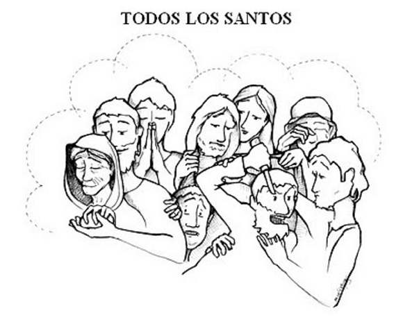 Dibujos del Día de Todos los Santos para colorear | Colorear imágenes