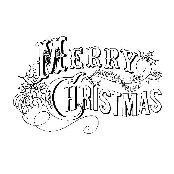 Tarjetas De Navidad Para Colorear, Dibujos Con Mensajes De