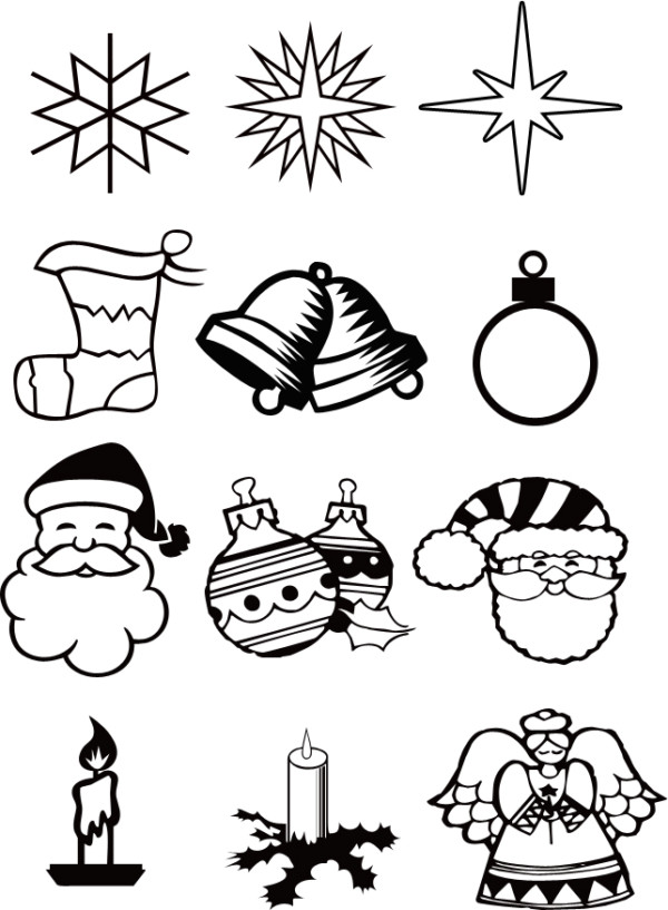 Imagenes De Adornos De Navidad Para Colorear.Imagenes De Navidad Para Colorear Arboles Estrellas