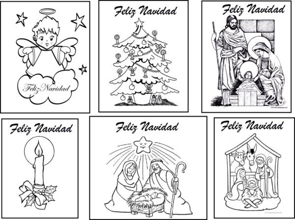 Dibujos Para Tarjetas De Navidad Para Ninos.Tarjetas De Navidad Para Colorear Dibujos Con Mensajes De