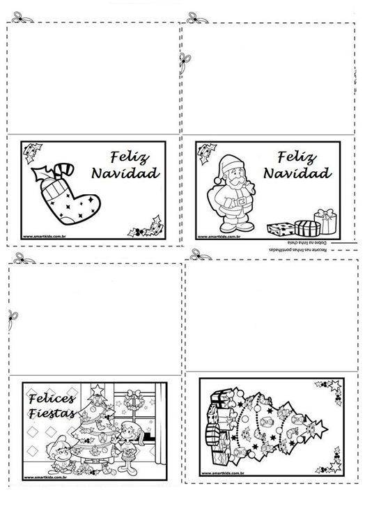 Tarjetas De Navidad Para Imprimir Con Mensajes. Tarjetas De Navidad ...