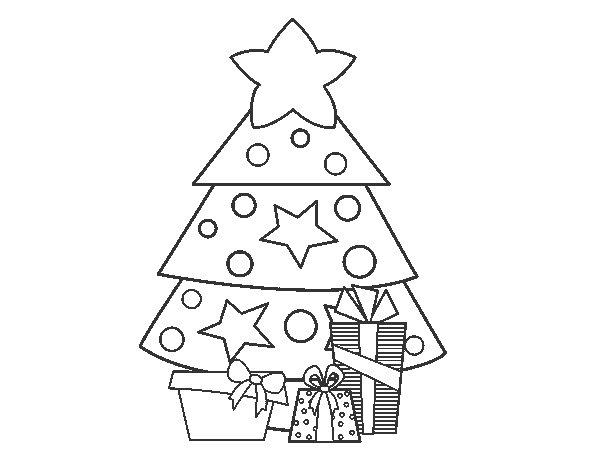 Dibujos Para Colorear Arboles Navidenos: Regalos De Navidad Para Colorear Dibujos