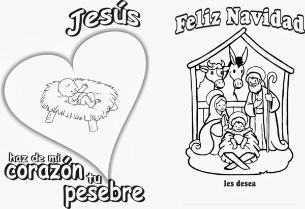 Tarjetas De Navidad Para Colorear Dibujos Con Mensajes De