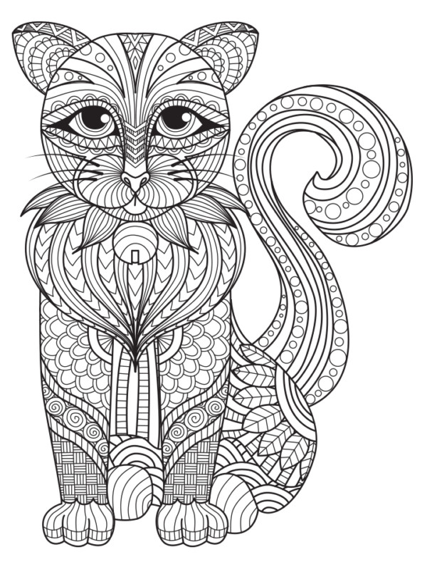 Easy Coloring Pages Of Cute Animals Tiger