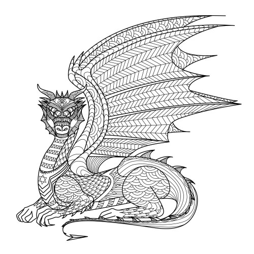 Dibujos de mandalas de animales y flores para colorear - Mandala dragon ...