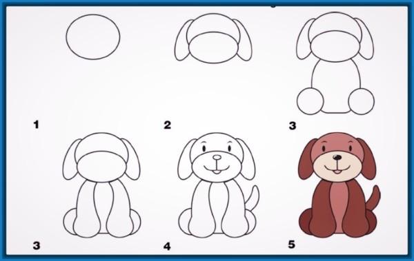 Dibujos Faciles Para Dibujar Paso A Paso De Animales Tiernos