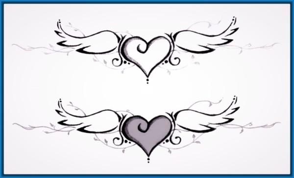 Dibujos Fáciles de Amor, a Lápiz, Kawaii para Dibujar, Imprimir ...