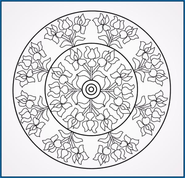 Mandalas Faciles Para Colorear Best Imprimir Dibujo De Mandala Para