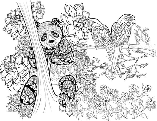 Dibujos De Mandalas Para Colorear Para Ninos: Dibujos De MANDALAS De ANIMALES Y FLORES Para Colorear