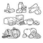 Imágenes con Dibujos de alimentos para colorear