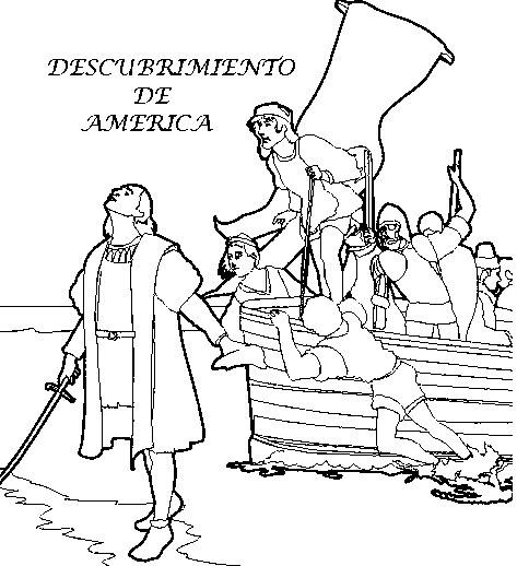 Dibujos Del Descubrimiento De América Para Colorear