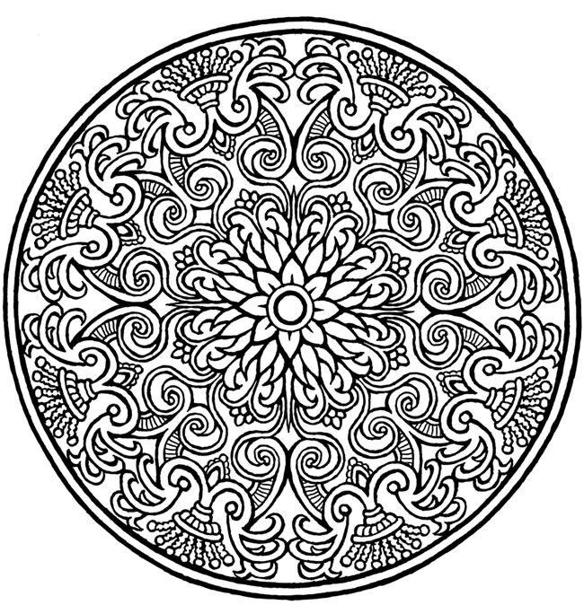 Dibujos de Mandalas para Colorear y Relajarse muy Bonitos   Colorear ...