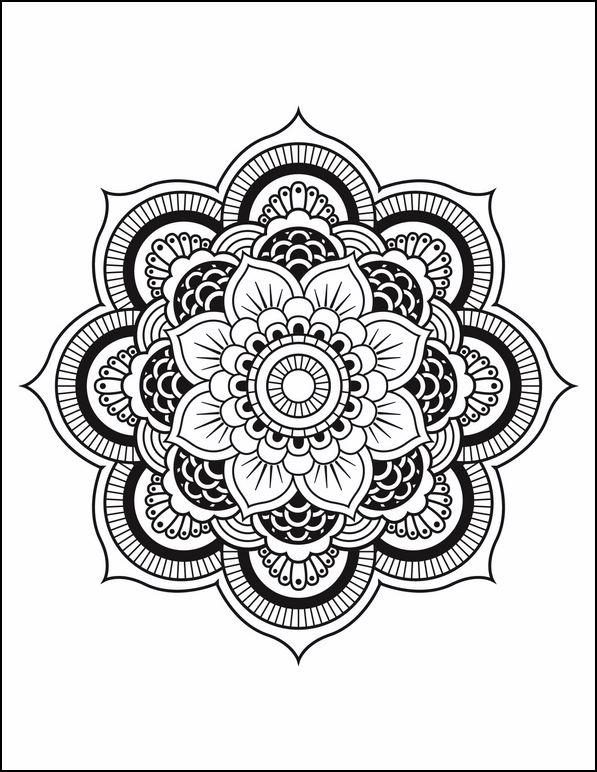 Dibujos De Mandalas Para Pintar. Paginas Abstractas. Rosetn Tipo ...