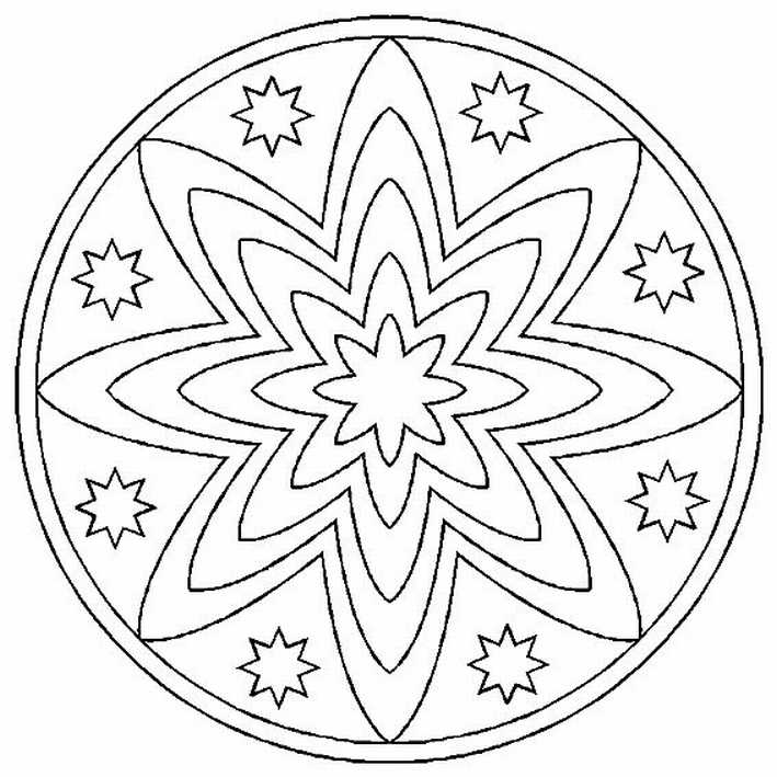 Mandalas Faciles Para Colorear. Mandalas Faciles Para Colorear With ...