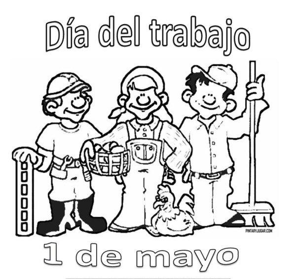 Dibujos Del Dia Del Trabajador Para Colorear E Imprimir Colorear