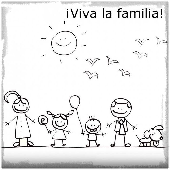 Dibujos Del Dia De La Familia Para Descargar Imprimir Y Colorear