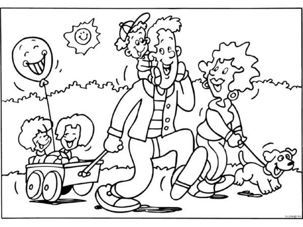 Dibujos Del Día De La Familia Para Descargar Imprimir Y Colorear