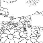 Dibujos de paisajes para colorear fáciles y hermosos