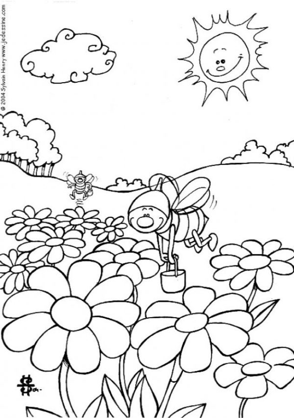Dibujos De Paisajes Para Colorear Faciles Y Hermosos Colorear