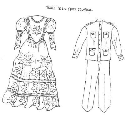 Vestimenta De La época Colonial Para Colorear El 25 De Mayo