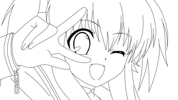Imagenes Animadas Para Colorear: Dibujos De Animé Y Manga Para Colorear E Imprimir