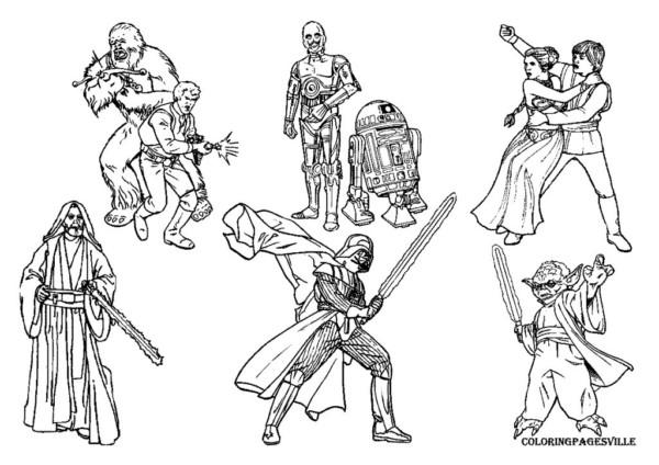 Dibujos del Día de Star Wars para colorear | Colorear imágenes