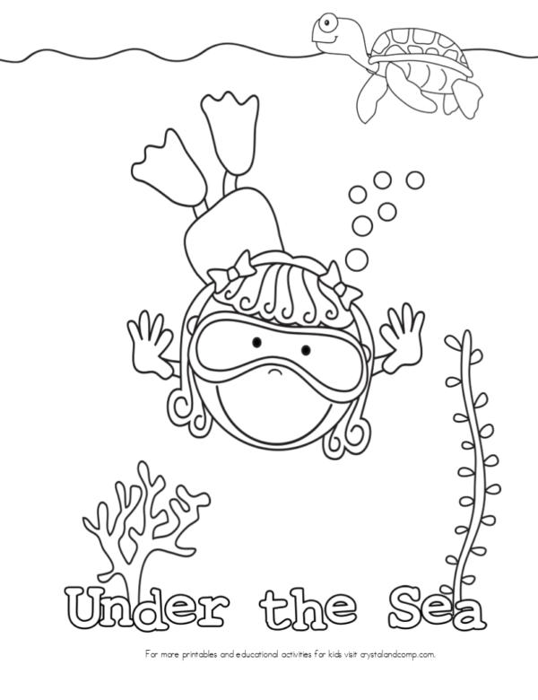 Dibujos para colorear del Día de los Océanos | Colorear imágenes