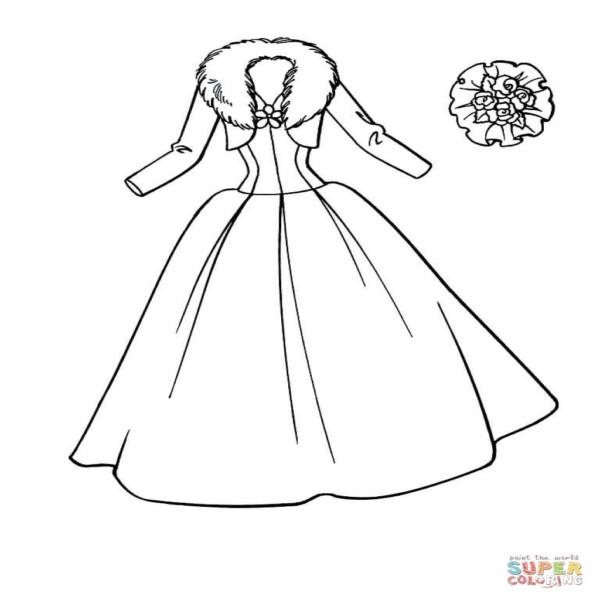 Dibujos De Vestidos Para Colorear Colorear Imagenes