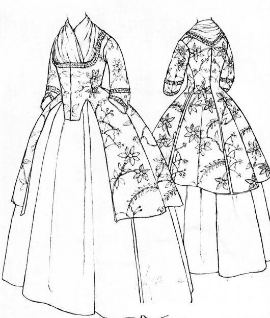 Dibujos de vestidos para colorear | Colorear imágenes
