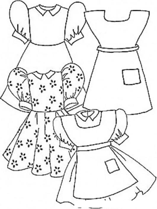 Dibujos De Vestidos Para Colorear Colorear Imágenes