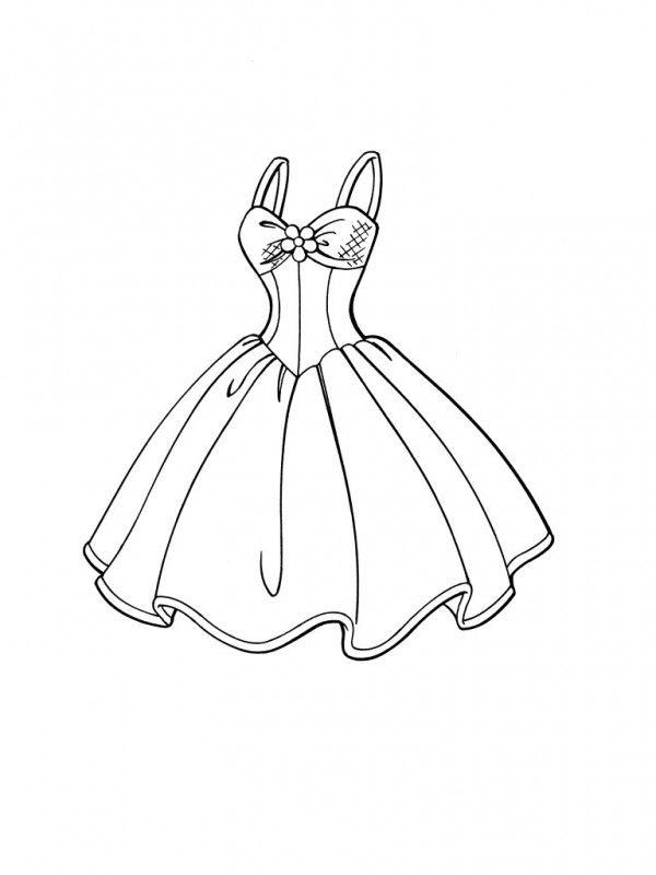 Dibujos de vestidos para colorear