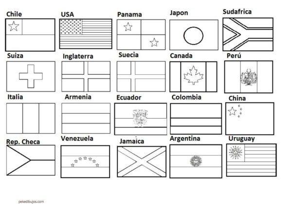 Dibujos De Banderas Para Colorear Y Pintar Colorear Imágenes